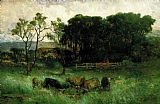 Edward Mitchell Bannister - five cows in pasture