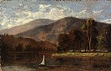 Edward Mitchell Bannister Wall Art - sailboat in river
