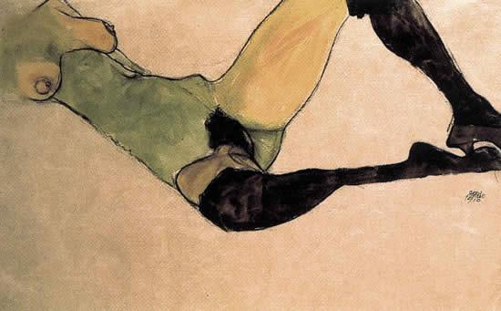 Egon Schiele A woman nude body