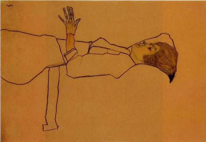 Egon Schiele Clothed Woman Reclining