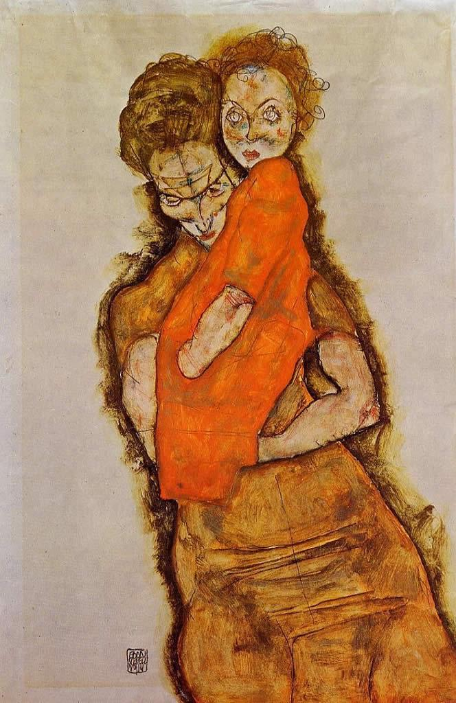 Egon Schiele Mother and Child