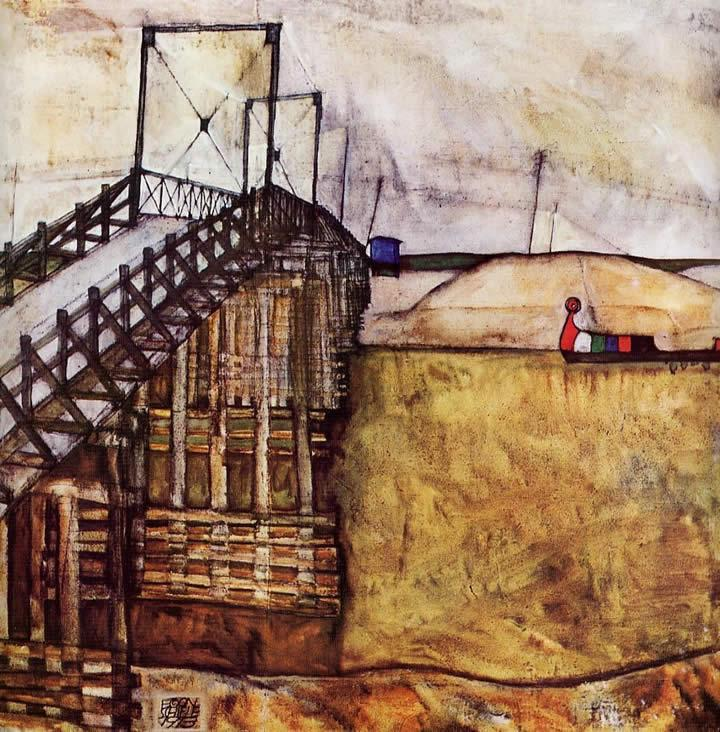 Egon Schiele The Bridge