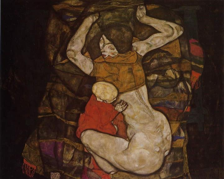 Egon Schiele Young Mother