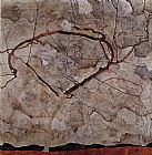 Egon Schiele Canvas Paintings - Autumn Tree in Movement
