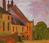 Egon Schiele Houses on the Town Square in Klosterneuberg painting