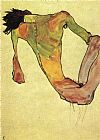 Egon Schiele Male trunk on 1911 painting