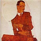Egon Schiele Portrait of the Art Critic Arthur Roessler painting