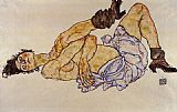 Nude Canvas Paintings - Reclining Female Nude
