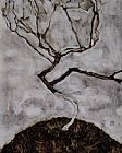 Egon Schiele Small tree in late autumn painting