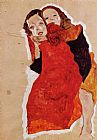Egon Schiele Two Girls painting