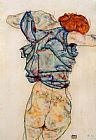 Egon Schiele Wall Art - Woman Undressing