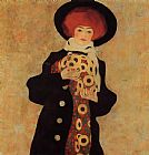 Egon Schiele Wall Art - Woman with Black Hat