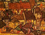 Egon Schiele Wall Art - Yellow City