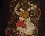 Egon Schiele Wall Art - Young Mother