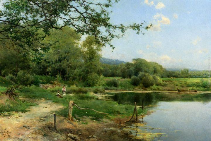 Emilio Sanchez-Perrier A Picnic on the Riverbank