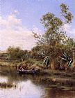 Emilio Sanchez-Perrier The Boating Party painting