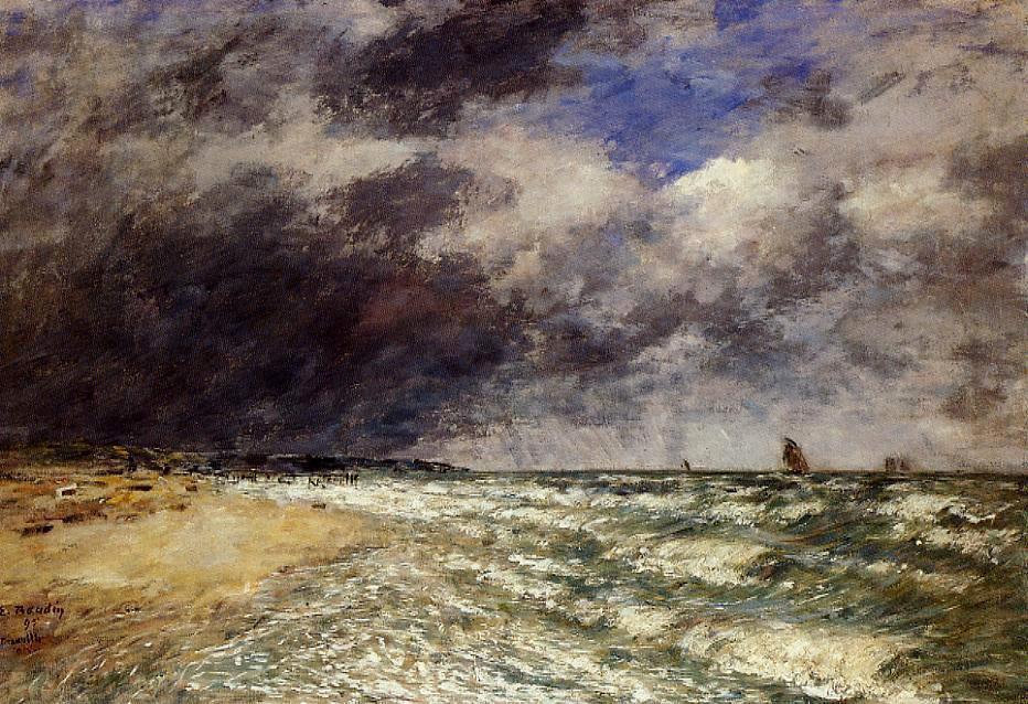 Eugene Boudin Sea Painting Framed Paintings For Sale