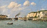 Famous Port Paintings - L'entree du port,Dieppe