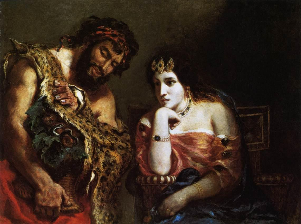 Eugene Delacroix Cleopatra and the Peasant