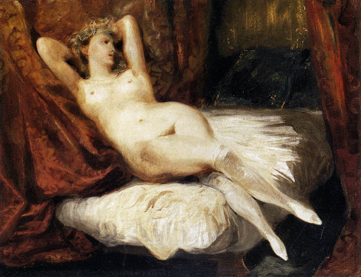 Eugene Delacroix Female Nude Reclining on a Divan
