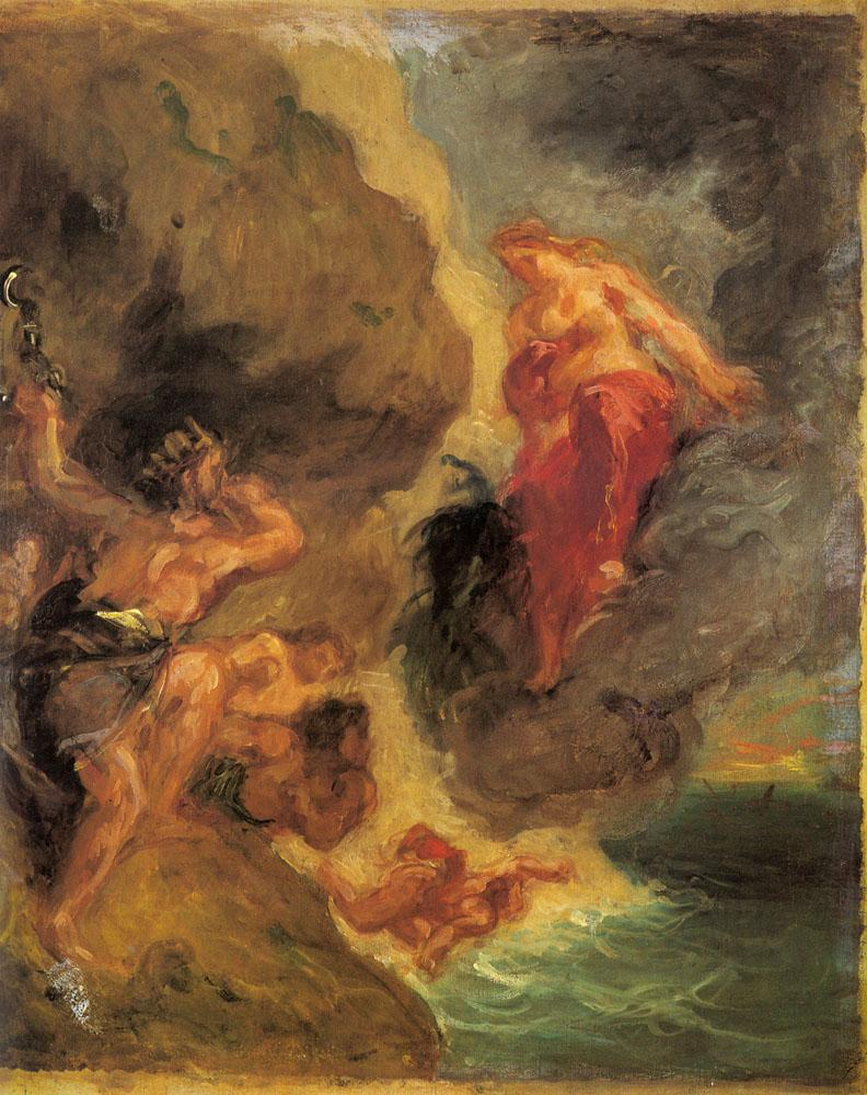Eugene Delacroix Winter Juno and Aeolus