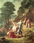 Eugene Delacroix Orpheus and Eurydice Spring from a series of the Four Seasons 1862 painting