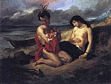 Eugene Delacroix The Natchez painting