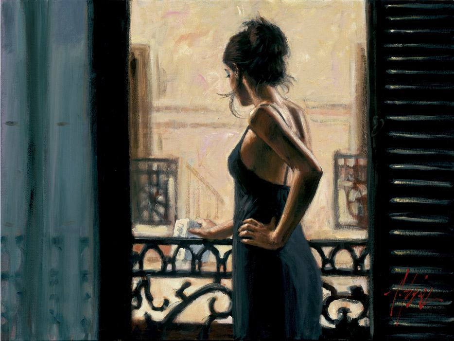 Fabian Perez At the Balcony in Buenos Aires