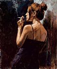 Fabian Perez Full moon empty heart painting