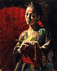 Fabian Perez New Michiko painting