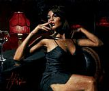 Fabian Perez Canvas Paintings - Saba at Las Brujas II