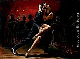 Fabian Perez TANGO IN RED painting