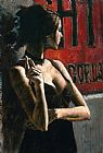 Fabian Perez THE RED SIGN painting