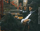 Las Canvas Paintings - WHISKEY AT LAS BRUJAS II