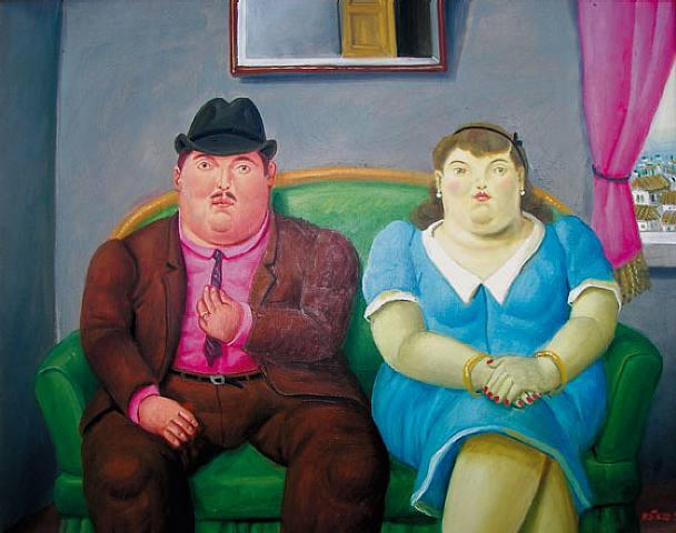 Fernando Botero Man And Woman