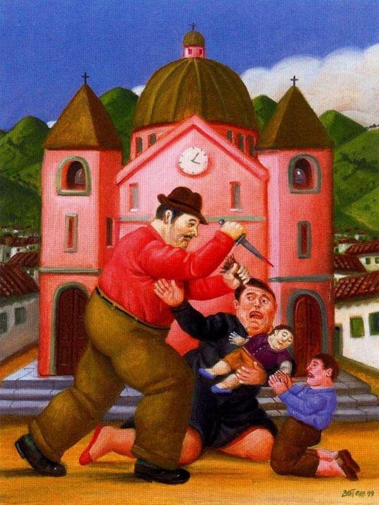 Fernando Botero Matanzan De Los Inocentes Painting