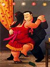 Fernando Botero Famous Paintings - Bailarines