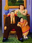 Fernando Botero Famous Paintings - Familia Colombiana
