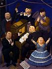 Fernando Botero Famous Paintings - La orquesta