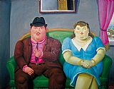 Fernando Botero Famous Paintings - Man And Woman