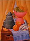 Fernando Botero Still Life with Coff pot painting