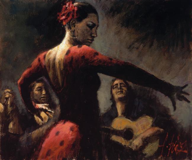 Flamenco Dancer Study For Tablado Flame