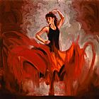 Flamenco Dancer Crescendo I painting