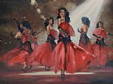 Flamenco Dancer Sieta Hermanas painting