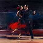 Flamenco Dancer Famous Paintings - dance series