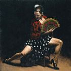 Flamenco Dancer sevillana painting