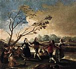 Dance Canvas Paintings - Dance of the Majos at the Banks of Manzanares