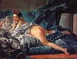 Francois Boucher Brown Odalisk painting