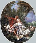 Shepherdess Canvas Paintings - Shepherd and Shepherdess Reposing