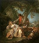 Francois Boucher The Interrupted Sleep painting